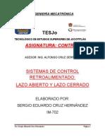 INGENIERÍA MECATRÓNICA ensayo control