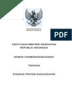 standar profesi radiografer2007