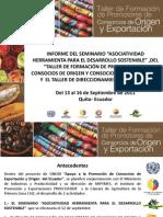Programa Ecuatoriano de Consorcios con el apoyo de la Onudi