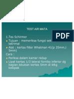 Test Air Mata