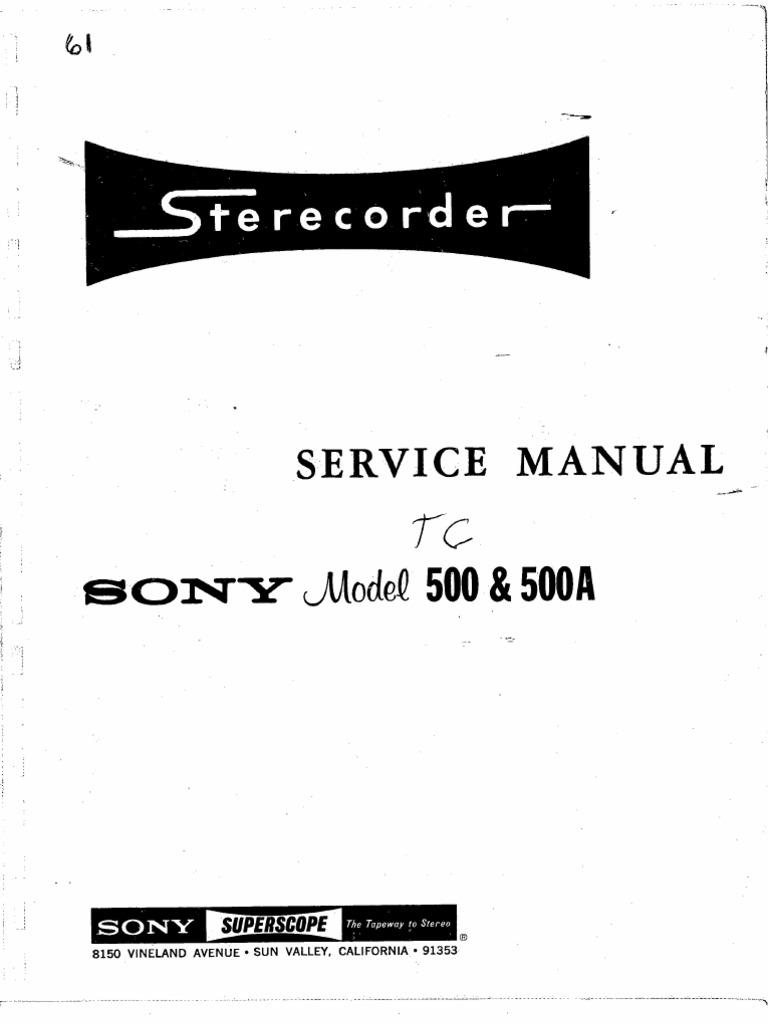 SONY TC-500 A