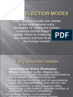 Entry Selection Modes