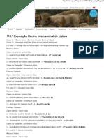Clube Português de Canicultura 118.ª Exposição Canina Internacional de Lisboa