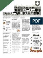 Seattle Swiss Society Newsletter - October  2011
