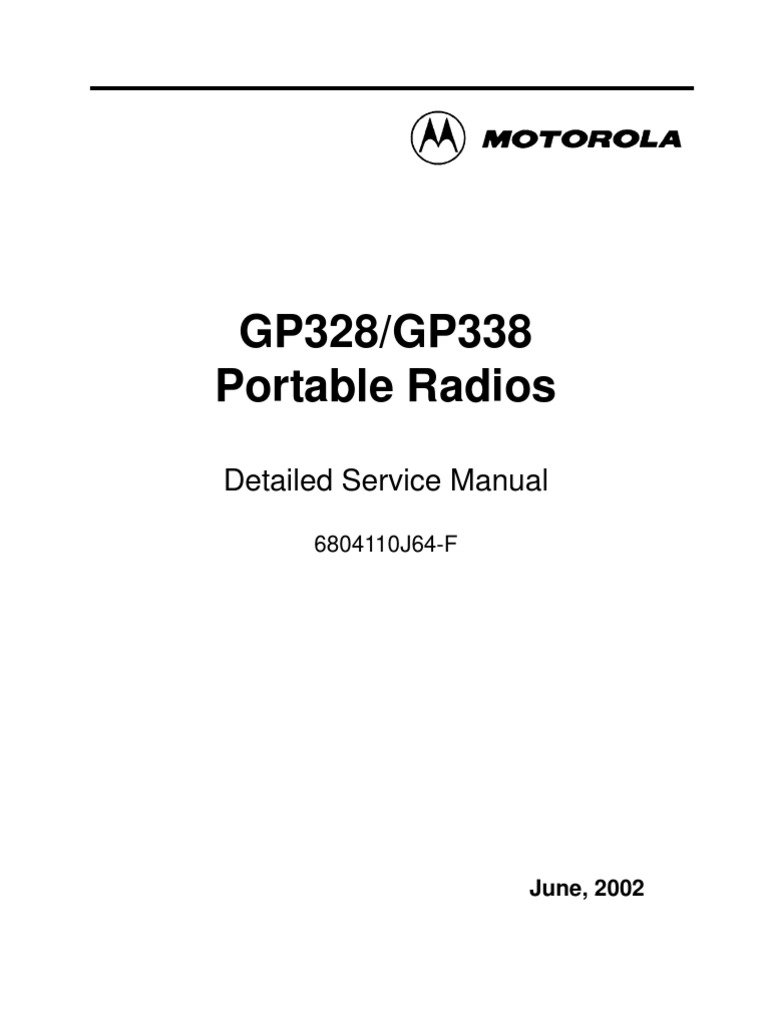 motorola gp328 338 service manual very high frequency electronic rh es scribd com motorola gm338 service manual free download motorola gm338 gm 398 mobile radios detailed service manual