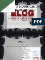 CREAR O Modificar Un Blog Desde Cero