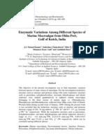 A Study of Enz Variations in Algae