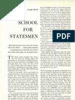 ! eBookS 1958 - Harpers Magazine - School for Statesmen by JOSEPH KRAFT