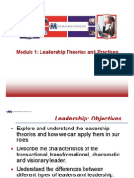Module 1 Leadership Theories and Practices