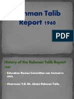Rahman Talib Report 1960 Power Point