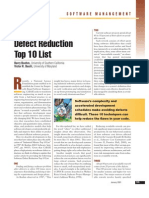 Software Defect Reduction - Top10 List