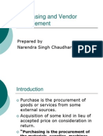 Purchasing and Vendor Management