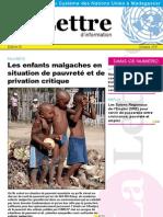 Lettre d'information du Système des Nations Unies à Madagascar- Octobre 2011(SNU - 2011)