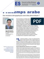 Printemps arabe - Note d'analyse géopolitique n° 37