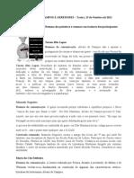 Resumos de comunicações - Álvaro de Campos