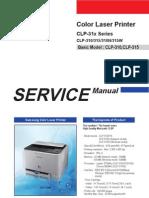 Samsung CLP-310 series printer service manual