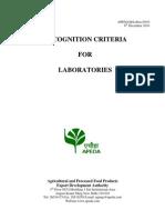 APEDA LabCriteria2010