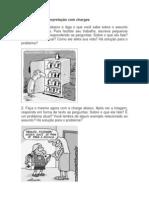 Exercícios de interpretação com charges