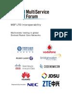 MSF LTE Interoperability 2010 White Paper