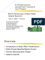 2002 - Green Roofs Infrastructure - Lessons Learned From Toronto's Demonstration Project