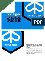 Uso e Manutenzione p125x p200e 1981