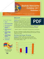 Bashde Newsletter Volume 2-October 2011