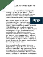 A HISTÓRIA DE NOSSA SENHORA DA CABEÇA