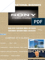 international business of sony