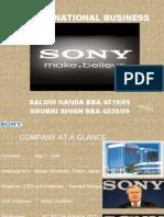 international business of sony