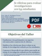 Desarrollo de rúbricas para evaluar trabajos de investigación - 14 de octubre de 2011