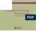 Community-Based Paralegals - A Practitioner's Guide