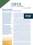 La note de conjoncture de l'OFCE - 14/10/2011