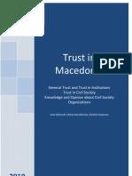 Trust in Macedonia 2010