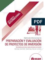 Tríptico Diplomado Internacional en Preparación y Evaluación de Proyectos de Inversión
