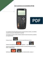 Cómo introducir ecuaciones en la calculadora HP 50g