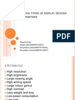Various Types of Display Devices and Printers
