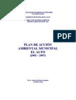 Plan de Acción Ambiental (El Alto)
