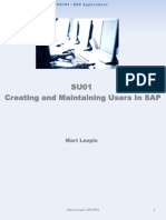 SAP User Creation