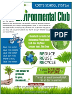 Environment Club Poster