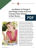 CR-Diteary Balance of Omega-6 & 3 Fatty Acids