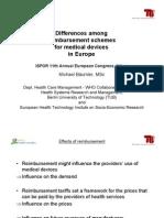 Reimbursement of MDs in Europe Reimbursement