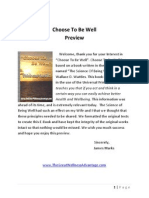 choose to be well preview
