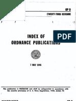 OP 0 - Index of Ordnance Publications (Twenty-Third Rev) 7 May 1946