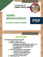 Madre Tierra y Medio Ambiente, metodología para recoger propuestas de Estatuto de Cochabamba