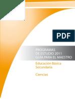 Programa de Estudios 2011 Ciencias