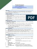 Resume Ramesh Linux Drivers 6+ Yrs Expr