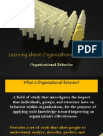 Lecture 1 - Learning About Organizational Behavior