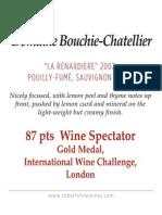 Bouchie Chatellier Renardiere x1 Shelf Talker