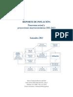 Reporte de Inflacion Setiembre 2011