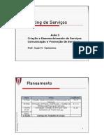 MS 3 MBA Criacao, Desenvolvimento e Comunicacao de Servicos